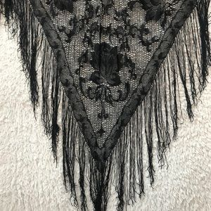 Accessories - Black Woven Pashmina Wrap/ Scarf - NWOT
